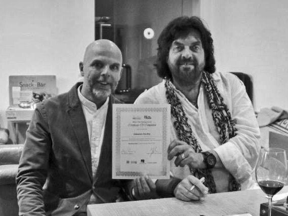 alan parsons recording certificate